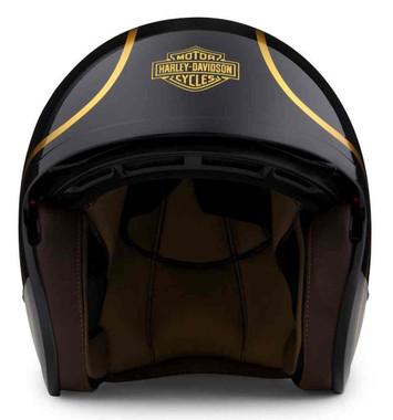 Harley-Davidson Unisex Bougie Sun Shield M06 3/4 Helmet - Gloss Black 98174-20VX - Wisconsin Harley-Davidson