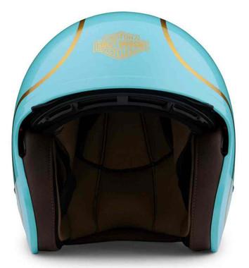 Harley-Davidson Unisex Bougie Sun Shield M06 3/4 Helmet - Gloss Teal 98175-20VX - Wisconsin Harley-Davidson