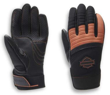 Harley-Davidson Women's Killian Mixed Media Full-Finger Gloves 98160-20VW - Wisconsin Harley-Davidson