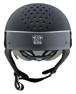 Harley-Davidson Unisex Trenton B&S Two-Tone B13 Half Helmet, Black 98105-20VX - Wisconsin Harley-Davidson