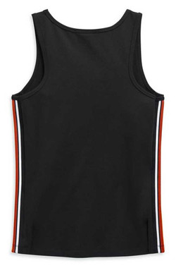 Harley-Davidson Women's Side Stripe Sleeveless Tank Top, Black 99110-20VW - Wisconsin Harley-Davidson