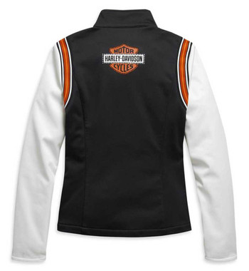 Harley-Davidson Women's Embellished Logo Colorblock Fleece Jacket 98409-20VW - Wisconsin Harley-Davidson