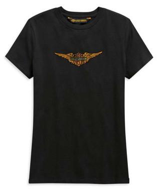 Harley-Davidson Women's Vintage Eagle Short Sleeve T-Shirt - Black 99125-20VW - Wisconsin Harley-Davidson