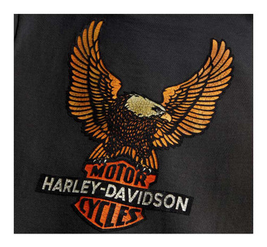 Harley-Davidson Women's Vintage Eagle Short Sleeve T-Shirt - Black 99125-20VW - Wisconsin Harley-Davidson
