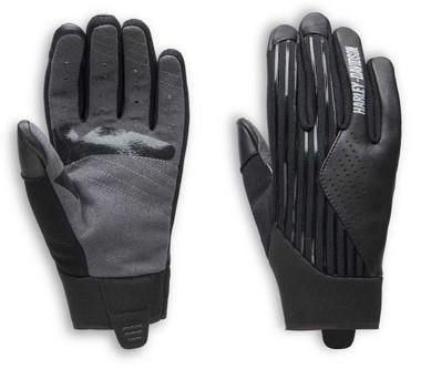 Harley-Davidson Women's Sidari Mixed Media Full-Finger Gloves, Black 98161-20VW - Wisconsin Harley-Davidson