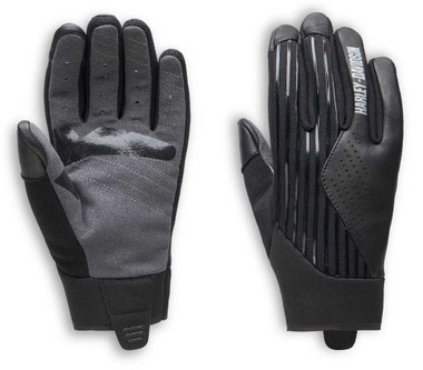 Harley-Davidson Women's Sidari Mixed Media Full-Finger Gloves, Black 98161-20VW - Wisconsin Harley-Davidson