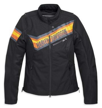 Harley-Davidson Women's Sidari Mesh & Textile Riding Jacket - Black 98165-20VW - Wisconsin Harley-Davidson