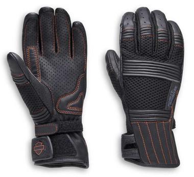 Harley-Davidson Women's Oreti Vented Under Cuff Gauntlet Gloves 98162-20VW - Wisconsin Harley-Davidson