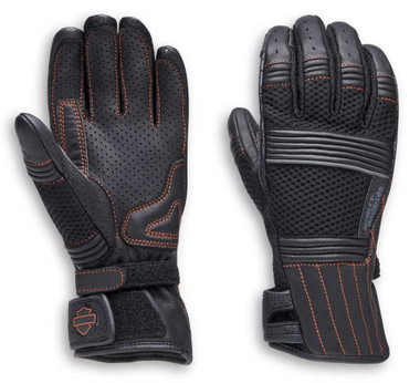 Harley-Davidson Women's Oreti Vented Under Cuff Gauntlet Gloves 98162-20VW - Wisconsin Harley-Davidson