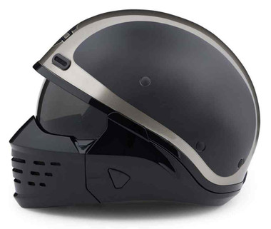 Harley-Davidson Men's Sport Glide 3-IN-1 X07 Helmet, Gray/Black 98176-20VX - Wisconsin Harley-Davidson