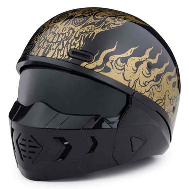 Harley-Davidson Men's Goldusa 3-IN-1 X07 Half Helmet, Gloss Black 98190-20VX - Wisconsin Harley-Davidson