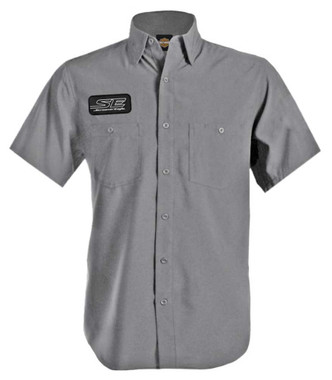 Harley-Davidson Men's Screamin' Eagle Performance Wicking Vented Shirt - Gray - Wisconsin Harley-Davidson