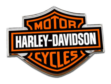 Harley-Davidson Cut-Out Bar & Shield Logo Hard Acrylic Magnet - 3.25 x 2.5 inch - Wisconsin Harley-Davidson