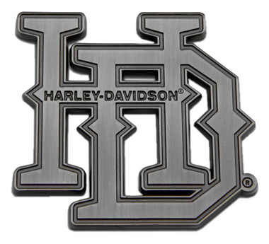 Harley-Davidson Stacked H-D Heavy-Duty Metal Magnet, 3 in. Antique Silver Finish - Wisconsin Harley-Davidson