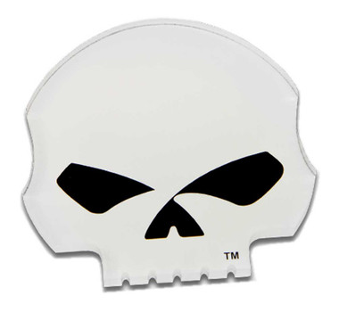 Harley-Davidson Cut-Out Willie G Skull Logo Hard Acrylic Magnet - 3.25 x 3 inch - Wisconsin Harley-Davidson