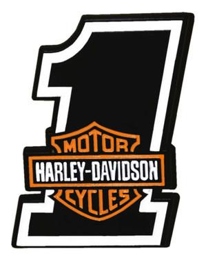 Harley-Davidson 1.25 in. #1 Bar & Shield Logo Metal Pin, Shiny Black Finish - Wisconsin Harley-Davidson