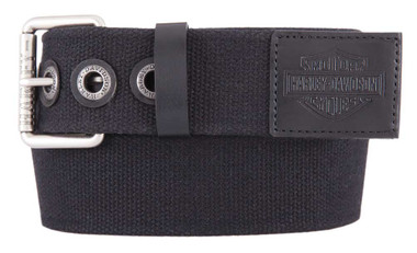 Harley-Davidson Men's Bad Manners Genuine Leather Trims Belt, Antique Nickel - Wisconsin Harley-Davidson
