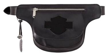 Harley-Davidson Women's Lita Genuine Leather Belt w/ Removable Hip Bag, Black - Wisconsin Harley-Davidson