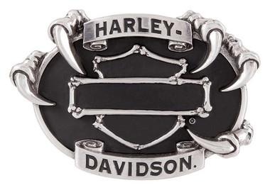 Harley-Davidson Men's Claw Bones Bar & Shield Belt Buckle, Antique Silver Finish - Wisconsin Harley-Davidson