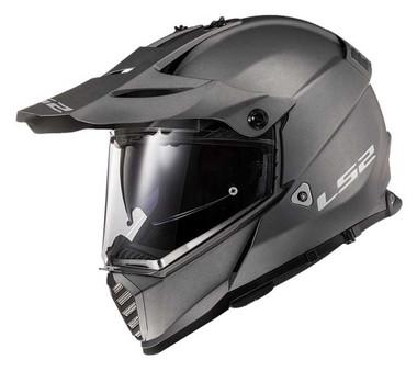 LS2 Helmets Full Face Blaze Adventure Motorcycle Helmet, Matte Titanium 436B-103 - Wisconsin Harley-Davidson