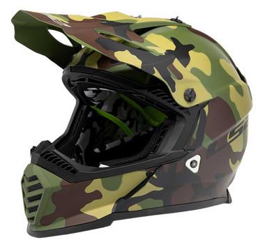 LS2 Helmets Full Face Gate Jarhead Motorcycle Helmet - Matte Camo 437G-123 - Wisconsin Harley-Davidson