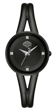 Harley-Davidson Women's Bar & Shield Diamonds Dial Stainless Steel Watch 78P102 - Wisconsin Harley-Davidson