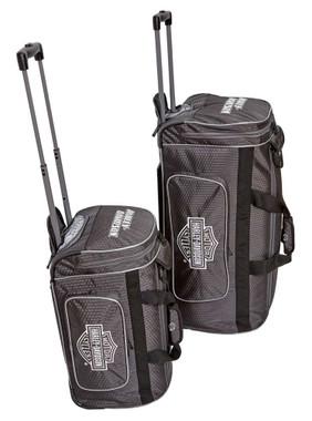 Harley-Davidson Tough Terrain Honeycomb Hex Wheeled Travel Duffel Bag - Black - Wisconsin Harley-Davidson