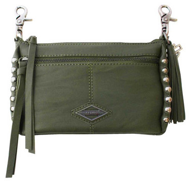 Harley-Davidson Women's Ball & Chain Horizontal Hip Bag w/ Strap - Olive Green - Wisconsin Harley-Davidson