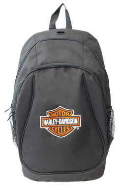 Harley-Davidson Embroidered Bar & Shield Logo Backpack, Black XBP1500-BLACK - Wisconsin Harley-Davidson