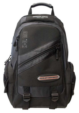Harley-Davidson On The Road Megapack Backpack w/ 5 Pockets & Adjustable Straps - Wisconsin Harley-Davidson
