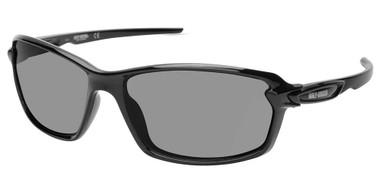 Harley-Davidson Men's Modern Sport Sunglasses, Shiny Black Frame & Smoke Lenses - Wisconsin Harley-Davidson