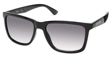 Harley-Davidson Men's Thicker Rimmed Sunglasses, Shiny Black Frame/Smoke Lenses - Wisconsin Harley-Davidson