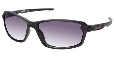 Harley-Davidson Men's Modern Sport Sunglasses, Metallic Black Frame/Smoke Lenses - Wisconsin Harley-Davidson