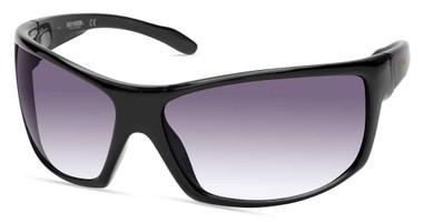 Harley-Davidson Men's Large Sport Sunglasses, Shiny Black Frame & Smoke Lenses - Wisconsin Harley-Davidson