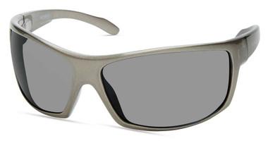 Harley-Davidson Men's Large Sport Sunglasses, Metallic Gray Frame & Smoke Lenses - Wisconsin Harley-Davidson