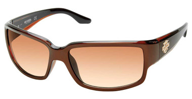 Harley-Davidson Women's Bejeweled B&S Sunglasses, Brown Frame & Gradient Lenses - Wisconsin Harley-Davidson