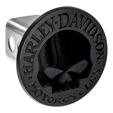 Harley-Davidson Oval Willie G Skull Logo Hitch Cover, 2 inch. - Matte Black - Wisconsin Harley-Davidson