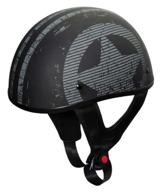 Fulmer Powersports 301 Tac Salute Flag Shorty Motorcycle Half Helmet - Black - Wisconsin Harley-Davidson