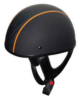 Fulmer Powersports 301 Tac Tonic Stripe Shorty Motorcycle Half Helmet - Black - Wisconsin Harley-Davidson