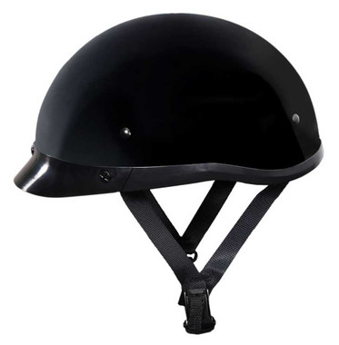 Fulmer Powersports 300 Phantom Low Profile Motorcycle Half Helmet - Gloss Black - Wisconsin Harley-Davidson