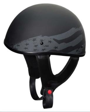 Fulmer Powersports 301 Tac Pride Flag Shorty Motorcycle Half Helmet - Black - Wisconsin Harley-Davidson