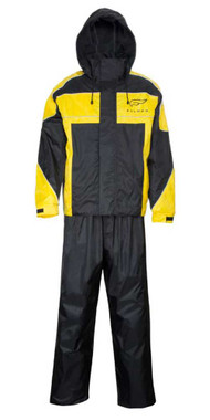 Fulmer Powersports Journey Two-Piece Water Resistant Rain Suit, Black & Yellow - Wisconsin Harley-Davidson