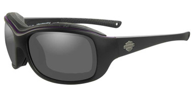 Harley-Davidson Women's Journey Sunglasses, Matte Black w/ Purple Piping Frames - Wisconsin Harley-Davidson