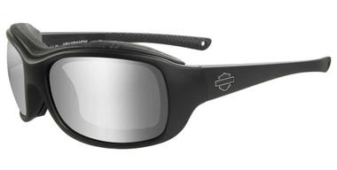 Harley-Davidson Men's Journey PPZ Silver Flash Lens Sunglasses, Black Frames - Wisconsin Harley-Davidson