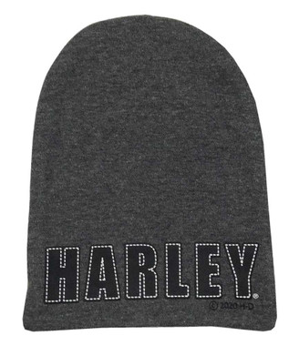 Harley-Davidson Baby Boys' Knit Slouchy Fit Beanie Hat, Dark Gray 7261011 - Wisconsin Harley-Davidson