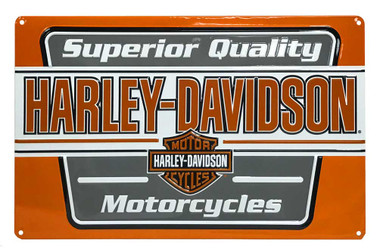 Harley-Davidson Superior Quality Motorcycle Tin Sign, 17.5 x 11 inches 2011201 - Wisconsin Harley-Davidson