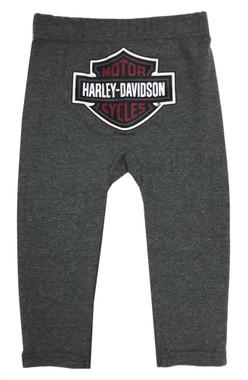 Harley-Davidson Little Boys' 2-Piece Short Sleeve Tee w/ Knit Fleece Pants, Gray - Wisconsin Harley-Davidson