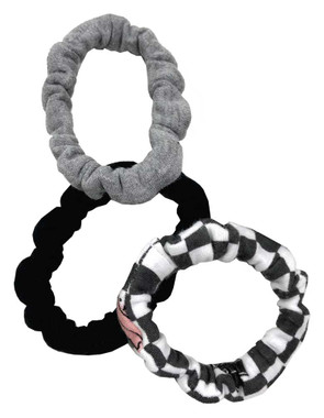 Harley-Davidson Baby Girls' 3-Pack Cotton Blend Mini Hair Tie Pack 7201041 - Wisconsin Harley-Davidson