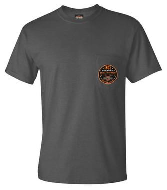 Harley-Davidson Men's Legendary 1903 Chest Pocket Short Sleeve T-Shirt, Gray - Wisconsin Harley-Davidson