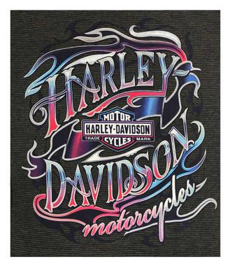 Harley-Davidson Women's Bright H-D Sleeveless Full Back Poly-Blend Tank Top - Wisconsin Harley-Davidson